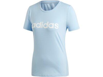 ADIDAS Damen T-Shirt Design 2 Move Logo Blau
