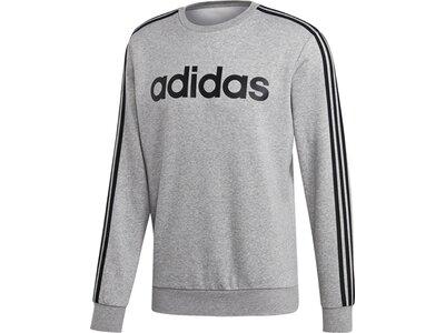 ADIDAS Herren Essentials 3-Streifen Sweatshirt Silber