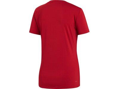 ADIDAS Damen Shirt D2M SOLID Rot