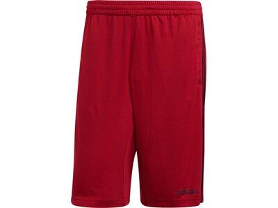 ADIDAS Herren Design 2 Move Climacool 3-Streifen Shorts Rot