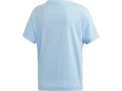 ADIDAS Damen T-Shirt Linear Graphic Blau