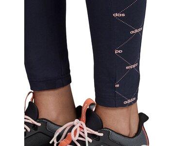ADIDAS Damen Linear Graphic Leggings Schwarz