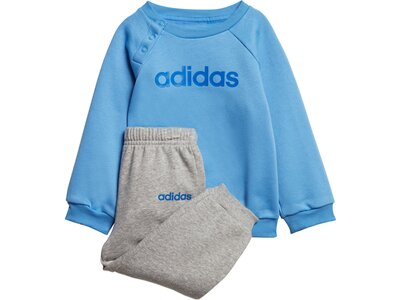 ADIDAS Kinder Linear Fleece Jogginganzug Grau