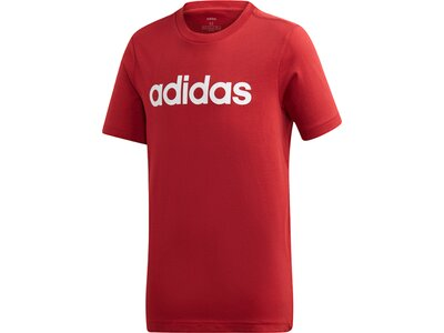 ADIDAS Kinder T-Shirt Essentials Linear Logo Rot