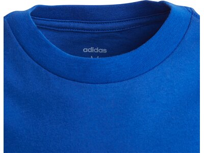 ADIDAS Kinder T-Shirt Essentials Linear Logo Blau