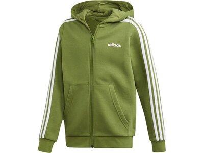 ADIDAS Kinder Essentials 3-Streifen Kapuzenjacke Grün