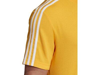 ADIDAS Herren T-Shirt Essentials 3-Streifen Gold