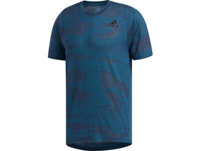 ADIDAS Herren T-Shirt FreeLift Camo Burnout Blau