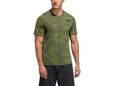ADIDAS Herren FreeLift Camo Burnout T-Shirt Braun