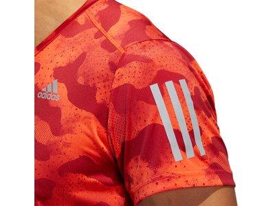 ADIDAS Herren Own the Run Urban Camo T-Shirt Rot