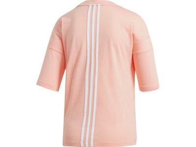 ADIDAS Damen T-Shirt Must Haves 3-Streifen Rot