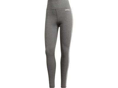 ADIDAS Damen Design 2 Move 3-Streifen High-Rise lange Tight Grau