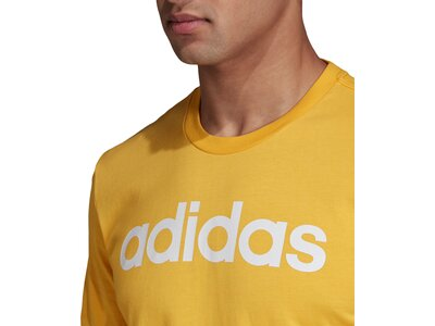 ADIDAS Herren T-Shirt Essentials Linear Logo Braun