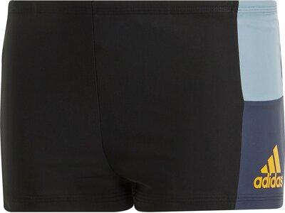 ADIDAS Kinder Fitness Colorblock Boxer-Badehose Schwarz