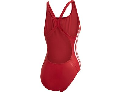 ADIDAS Damen Athly V 3-Streifen Badeanzug Rot