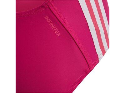 ADIDAS Kinder Athly V 3-Streifen Badeanzug Pink