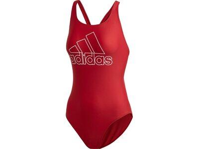 ADIDAS Damen Athly V Logo Badeanzug Rot