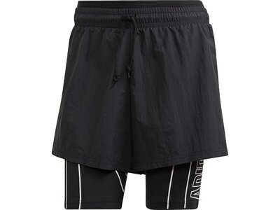 ADIDAS Damen Shorts W Det 2i1 Schwarz
