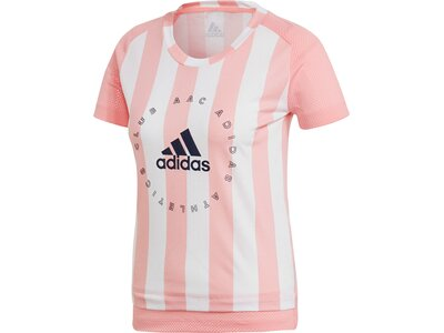 adidas Damen Slim Graphic T-Shirt Rot