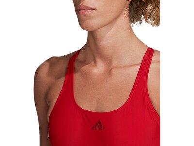 adidas Damen 3-Streifen Schwimmen Sport Badeanzug Rot