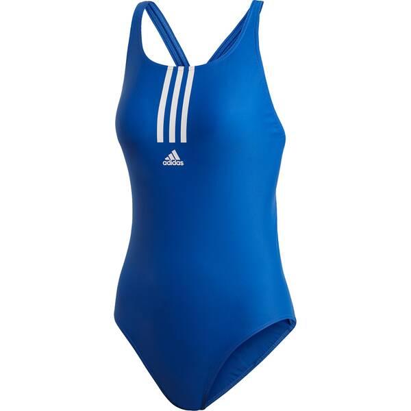 Bademode - adidas Damen SH3.RO Mid 3 Streifen Badeanzug › Blau  - Onlineshop Intersport