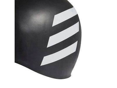 adidas 3-Streifen Badekappe Grau
