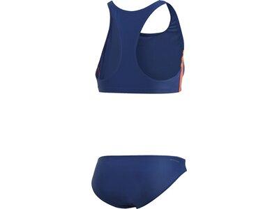 adidas Damen 3-Streifen Bikini Schwimmen Sport Badeanzug Blau