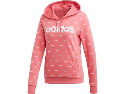 ADIDAS Damen Linear Graphic Hoodie Pink