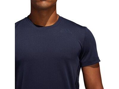 adidas Herren 3-Streifen Aeroready Sport T-Shirt Blau