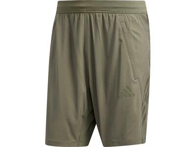 adidas Herren 3-Streifen 8-Inch Shorts kurze Sporthose Braun