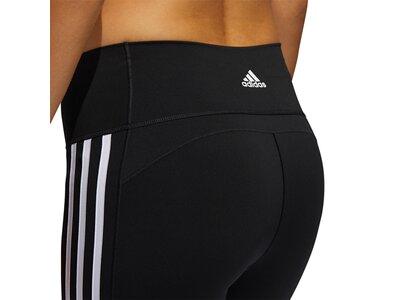 adidas Damen Believe This 2.0 3-Streifen 7/8-Tight Schwarz