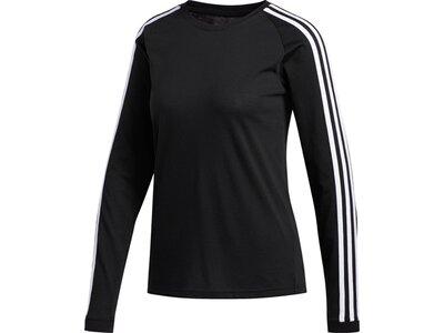 ADIDAS Damen Shirt 3S LS Schwarz