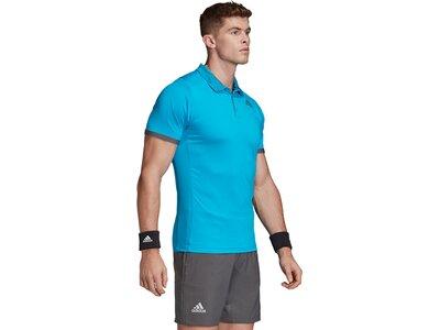 adidas Herren FreeLift Primeblue Poloshirt Blau