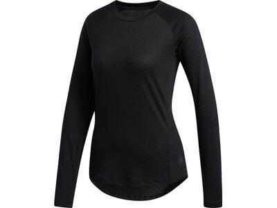 ADIDAS Damen Shirt PERF LS TOP Schwarz