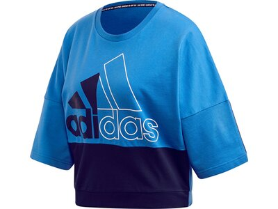 adidas Damen Must Haves Colorblock Sweatshirt Blau