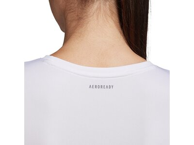 adidas Damen 3-Streifen Club T-Shirt Grau