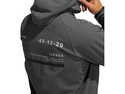 adidas Herren TERREX Felsblock Hooded Fleecejacke Grau