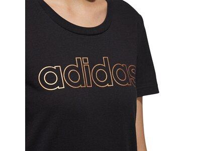 ADIDAS Damen Shirt E BRANDED T Schwarz