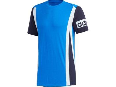 adidas Herren AEROREADY Colorblock T-Shirt Blau