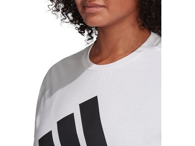 adidas Damen Must Haves Badge of Sport T-Shirt – Große Größen Silber