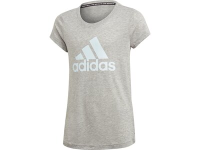 adidas Mädchen Must Haves Badge of Sport T-Shirt Silber
