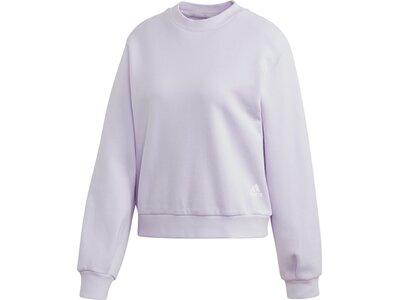 ADIDAS Damen Sweatshirt Pleated Silber