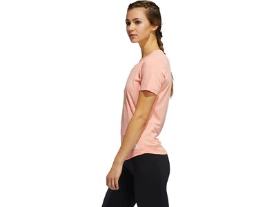 adidas Damen Performance Tee Aeroready Sport T-Shirt Rot