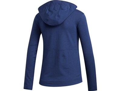 ADIDAS Damen Kapuzensweat 3S Blau