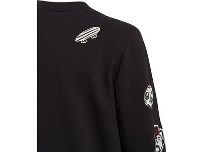 ADIDAS Kinder Sweatshirt A COL LG CW Schwarz