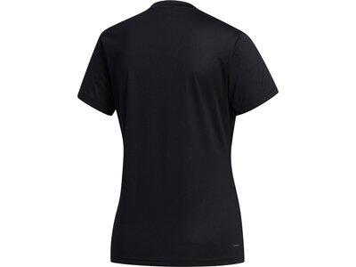 ADIDAS Damen Shirt D2M SOLID T Schwarz