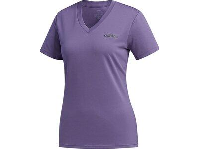 ADIDAS Damen Shirt D2M SOLID T Grau