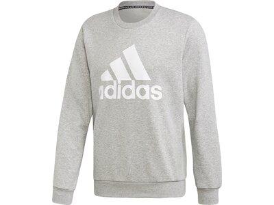 ADIDAS Herren Sweatshirt MH BOS CREW FT Silber