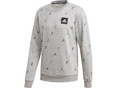 adidas Herren Must Haves Graphic Sweatshirt Silber