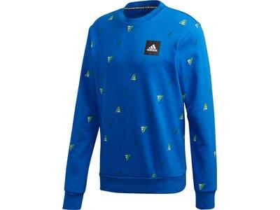 ADIDAS Fußball - Textilien - Sweatshirts Crew GFX Sweatshirt Blau